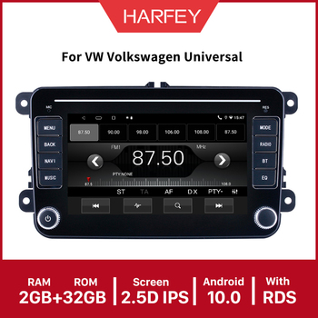 Harfey Android 10.0 API29 7 car Multimedia Car Radio For Universal VW SEAT LEON Golf Passat b5 b6 CC Sharan Polo Skoda Magotan image