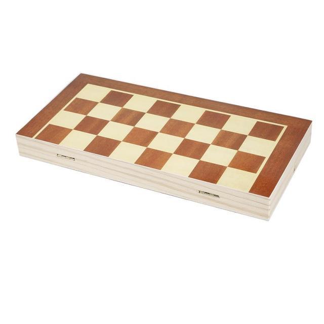 Ensemble en bois pliant jeu d'échecs échecs internationaux 34x34cm 5