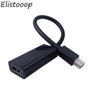 Elistooop Mini DisplayPort Display Port DP Male to HDMI Female Adapter Converter Cable For Mac Macbook Pro Air