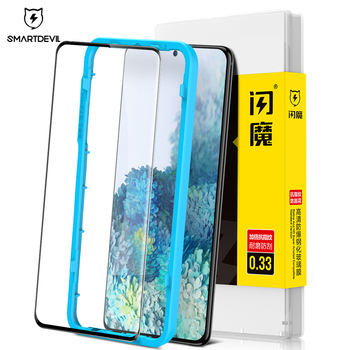 SmartDevl Screen Protector Glass for Samsung Galaxy S10 Plus S20 Ultra S9 Plus Tempered Glass for Samsung Note10 Full Cover