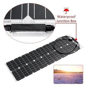 Image 5 - 2*50W (100W)  12V חצי גמיש גמיש יחיד פנל סולארי קרוון ואן משודרג 10A שמש תשלום בקר לרכב RV ימי