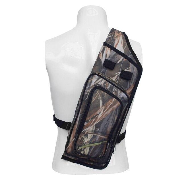 Arrow Quiver Adjustable Archery Bag Hunting Back Arrow Quiver Tube with Back Strap Archery Arrow Case Holder 2