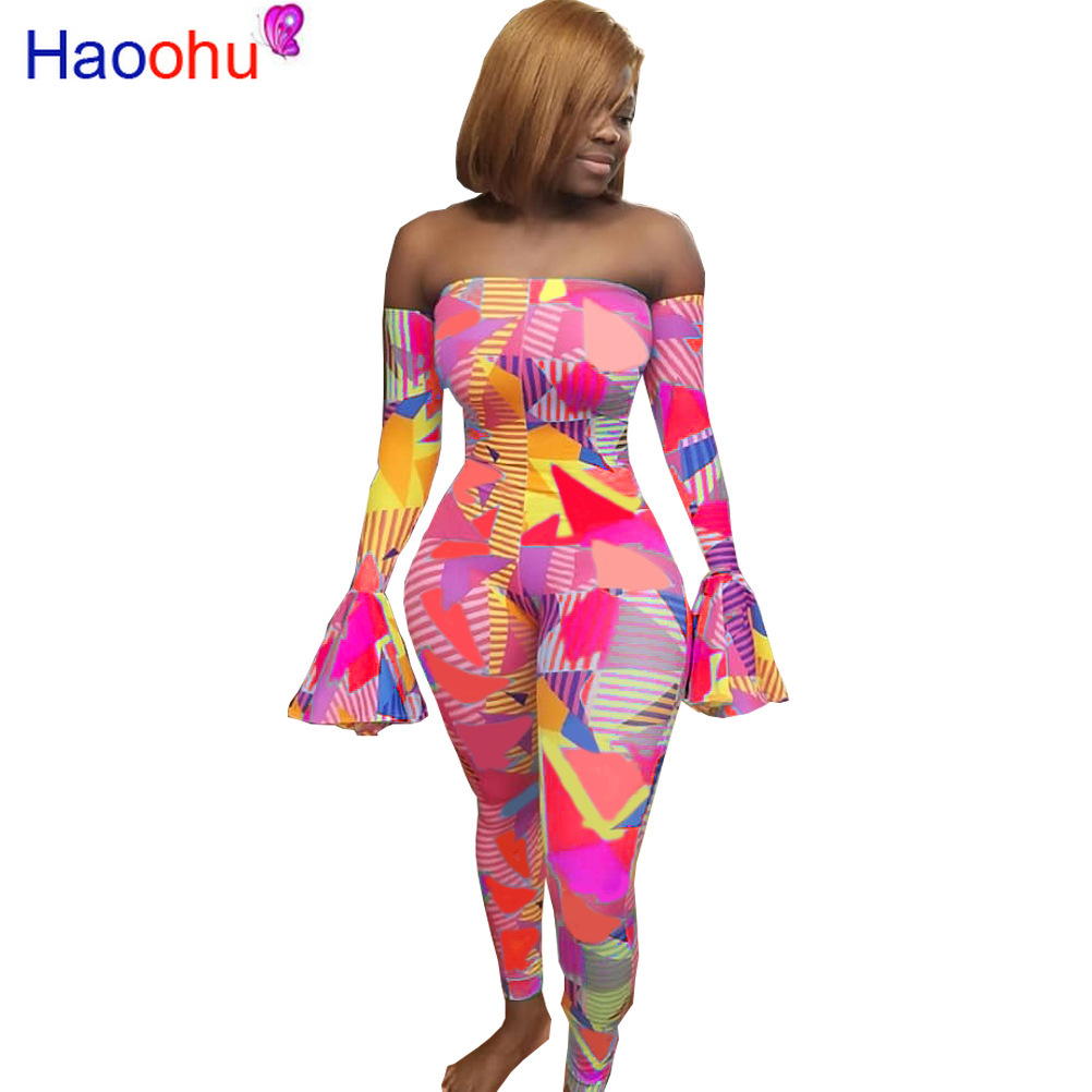 Sexy Rompers Womens Jumpsuit Rave Festival Fashion Nova One Piece Outfit Body Overalls Off Shoulder Plus Size Jumpsuits