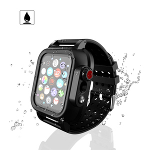 Image 2 - IP68 Waterproof Case with Silicone Strap for Apple Watch SE 6 5 4 40mm 44mm Sports Wristband for iWatch 3 2 1 38mm 42mm Band