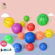 Детский Маленький мяч утолщенный баскетбольный надувной детский