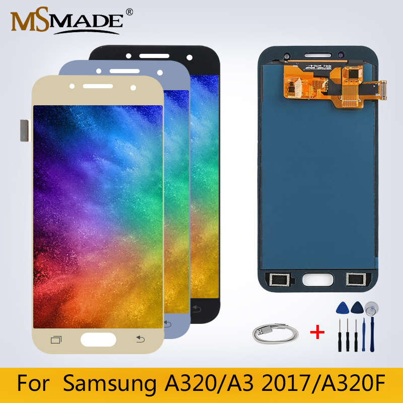 <font><b>A320</b></font> <font><b>LCD</b></font> For Samsung Galaxy A3 2017 <font><b>LCD</b></font> Display Touch Screen Digitizer <font><b>A320</b></font> A320F Replacement Assembly Parts Free Shipping image