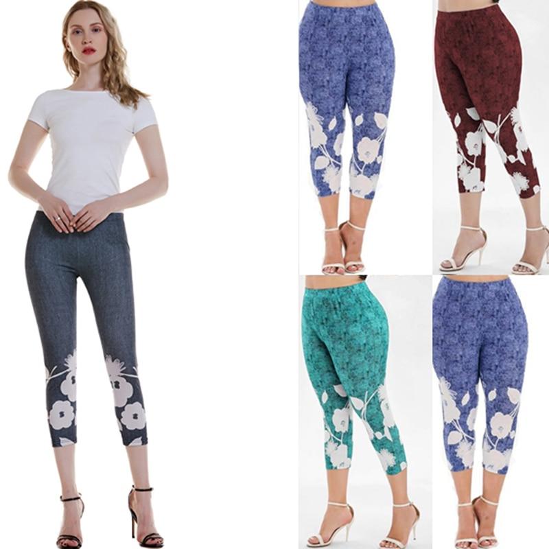 Black Push Up Printing Fitness Leggings Women Legging Elastic Workout Legins Printed Push Up Slim Female Legging