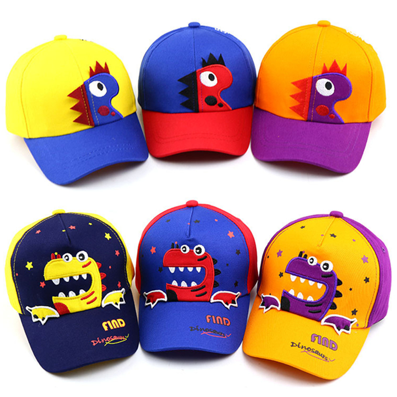 Kids Baseball Cap Casual Adjustable Spring Summer Caps Dinosaur Baby Boys Girl Hats Children Snapback Hip-Hop Sun Hat Bones