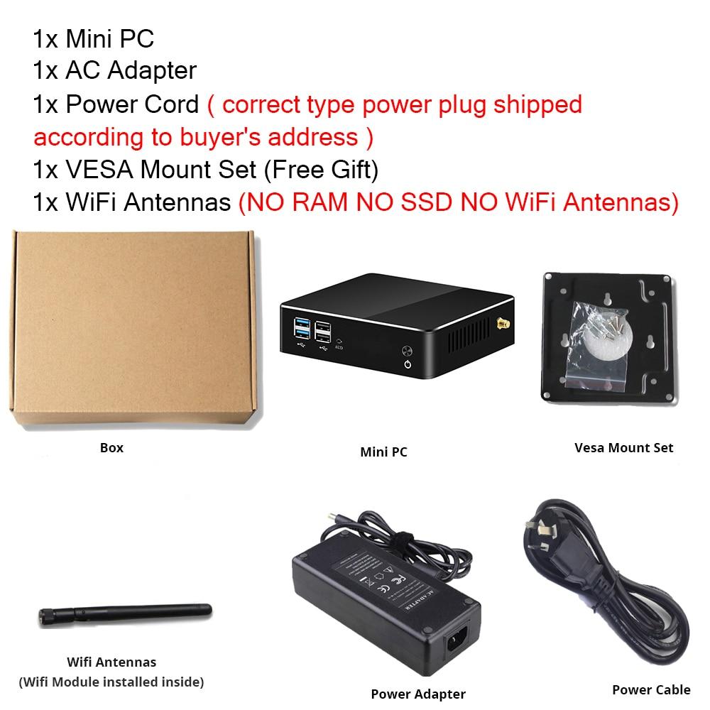 Image 5 - Mini PC 8th Gen Intel Core i7 8565U i5 8265U CPU 2*DDR4 M.2SSD HDMI DP 4K 60fps 6*USB Type C WiFi Window 10 HTPC Computer NettopMini PC   -