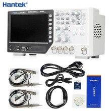 Hantek dso4102c multímetro digital osciloscópio, usb 100mhz 2 canais display lcd osciloscópio portátil forma de onda gerador