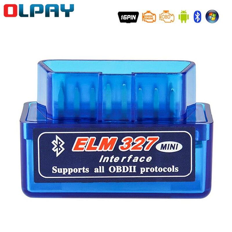 Считыватель кодов Elm327 Obd2, диагностический сканер кодов V1.5 V2.1, с Bluetooth