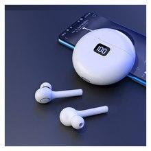 Наушники-вкладыши TWS Bluetooth 5,0 белый наушники 800 мА/ч, беспроводные наушники зарядным устройством с микрофоном наушники для Huawei Iphone Xiaomi
