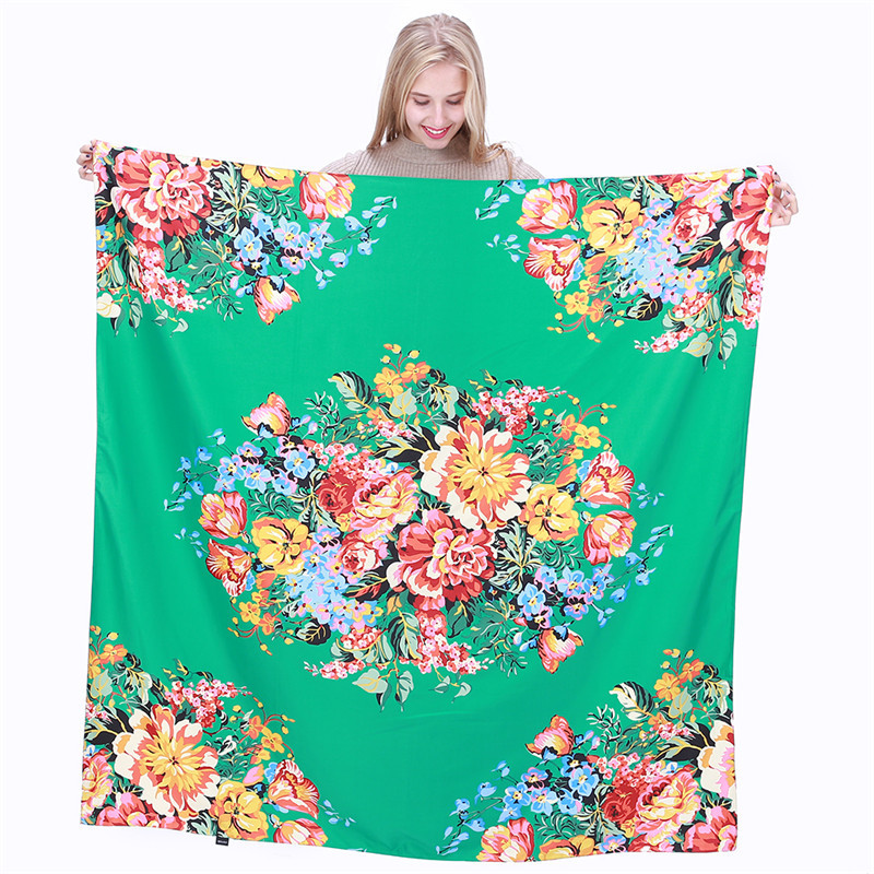 Special For You  Hot-selling twill silk women's fashion silk scarf 130cm large square towel decorative shawl scarf