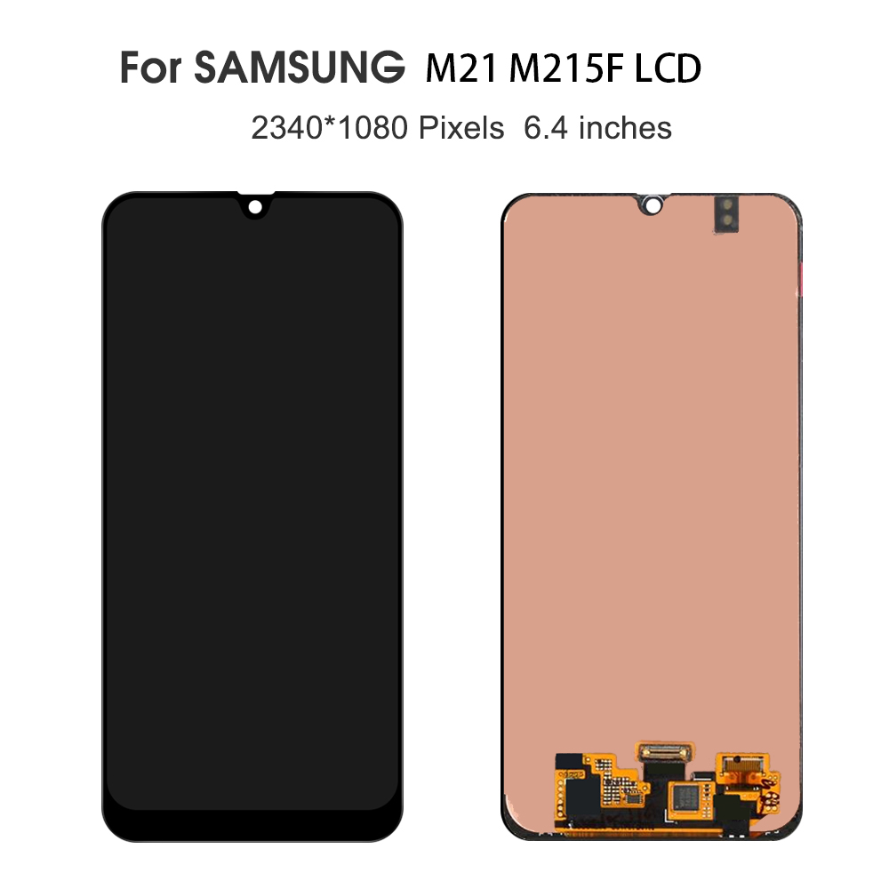 100% New LCD For Samsung Galaxy M21 M215F SM-M215F LCD Display Touch Screen Digitizer Assembly Replacement For SM-M215FZBGINS