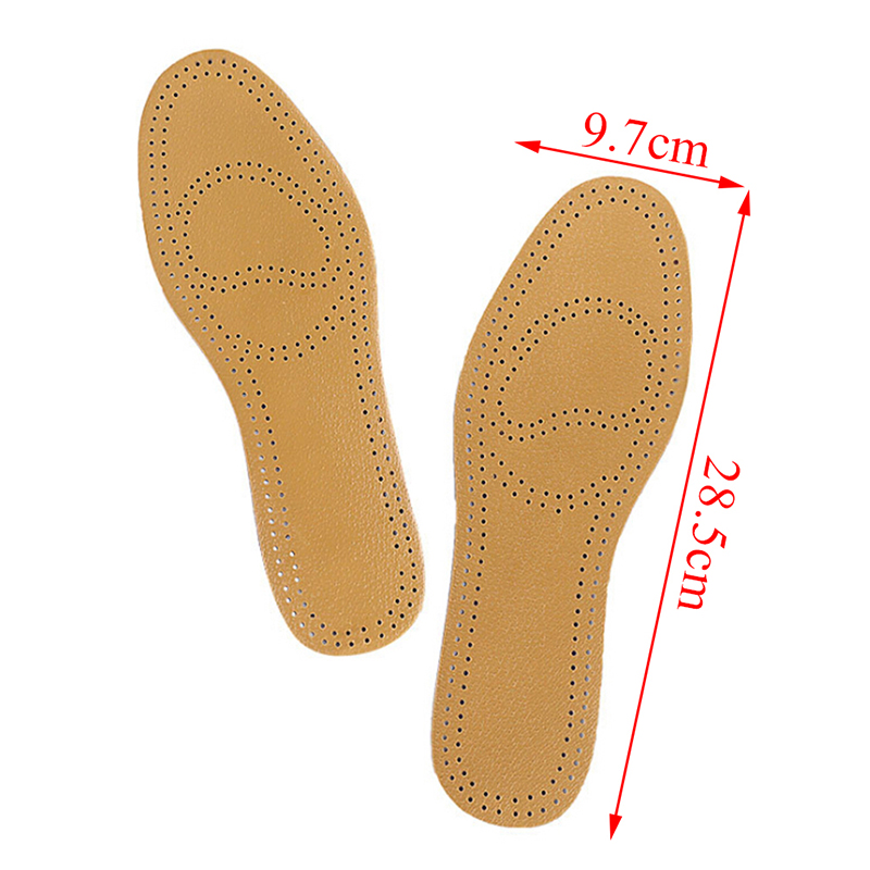 One Pair Breathable PU Leather Shoes Insole Pads Absorb Sweat Replacement Inner Soles Ultra Thin Insoles Instantly