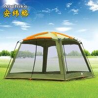 Guia da série ultralarge 5-8 pessoa grande gazebo barraca de acampamento barraca de praia sun abrigo barraca de acampamento tente carpas