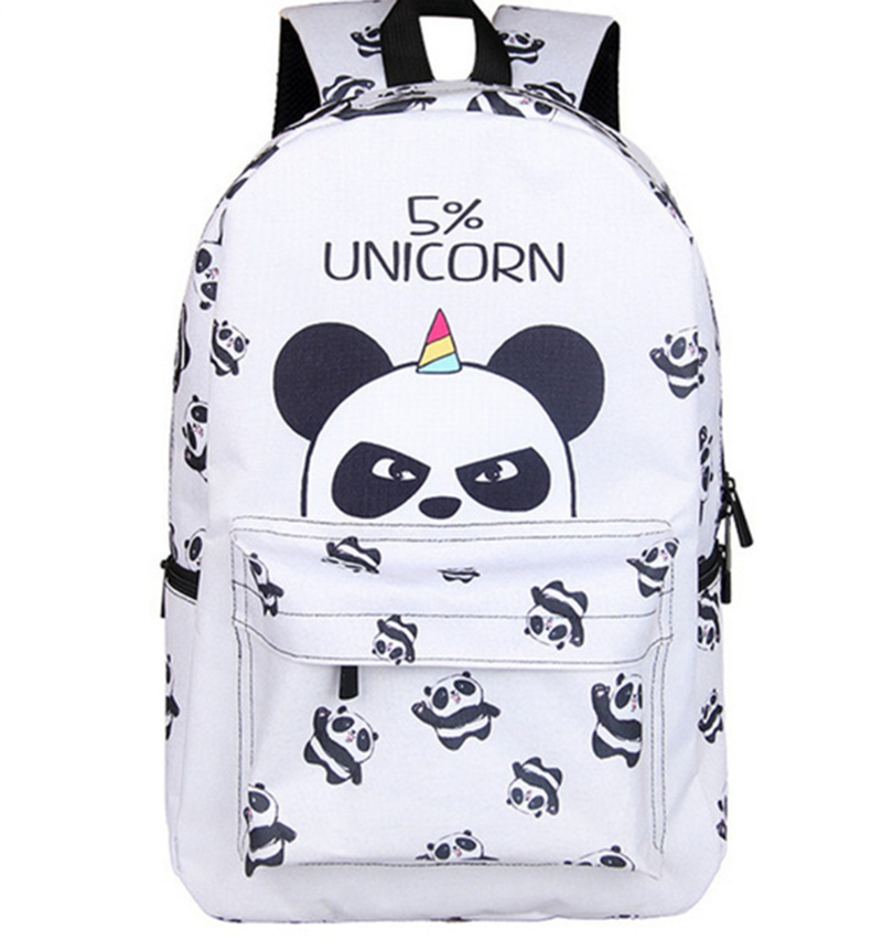 17 Inch Panda Backpack for Teenager Girls Laptop Mochila Feminina Unicorn College Student School Backpack Women Travel Bags