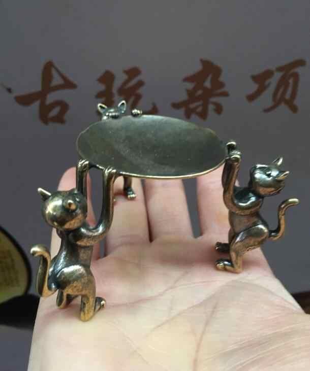 Trois chats artisanat antique lampe statue livraison gratuite veuillez sélectionner lion, ange, chat