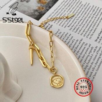 S'STEEL 925 Sterling Silver Bracelets For Women Gold Chain Pulsera De Plata De La Ley 925 Mujer Pulseira Feminina Fine Jewelry