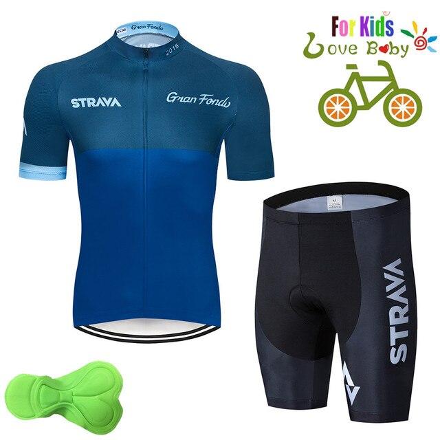 2020 strava criança bicicleta meninos roupas conjunto camisa de ciclismo respirável secagem rápida crianças adorável ciclismo roupas terno 5