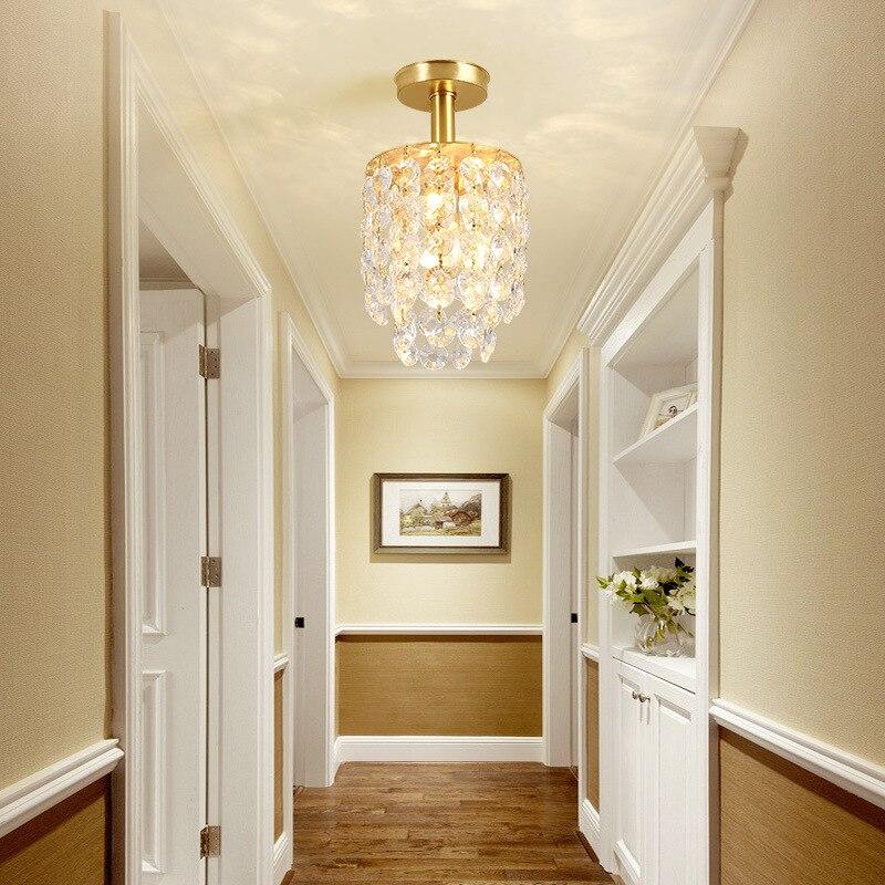 Foyer Europeu-estilo Vestiário Corredor Varanda Lâmpada Pequena