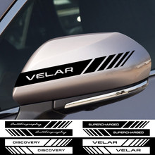 2 pçs espelho retrovisor do carro esporte adesivo para land rover gama utogiography supercharged descoberta velar evoque freelander svr