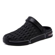 Lastik terlik erkekler yaz nefes ayarlanabilir sandalet Anti patinaj plaj Flip flop kadınlar açık yürüyüş botları yürüyüş için