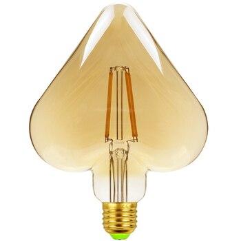 цена на TIANFAN Led Bulbs Vintage Light Bulb φ120mm Heart Gold Tint Glass 4W 220/240V E27 2500K Super Warm White Edison Led Bulb