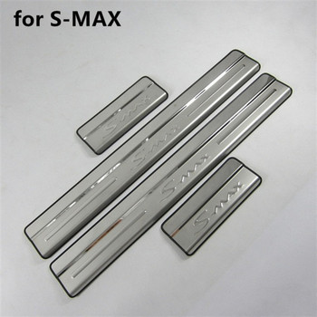 Car Styling Stainless Steel Scuff Plate/Door Sill Door Sill scuff plate door sill for Ford S-MAX 2007 2008 2009 2010-2019