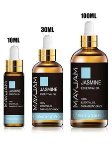 Dropper Lavender Aromatic Essential Oils Jasmine Tea-Tree-Geranium Mint-Ylang Eucalyptus