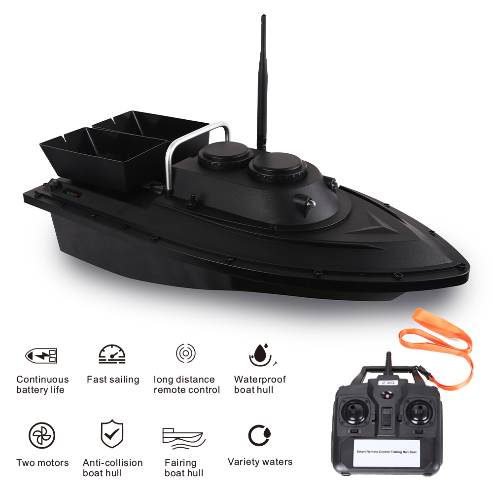 D11 RC Bait Boat Fishing Finder 1.5kg Loading 500m Remote Control Boat Double Motors 2 Led Lights Fixed Speed Fishing ToolsRC Boats   -