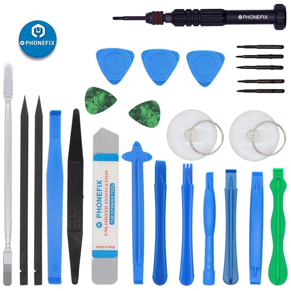 21 IN 1 Repair Phone Tools Kit Plastic Spudger Prying Tool Suction Cup Blade Opener Electronics Opening Repair For IPhone Screen