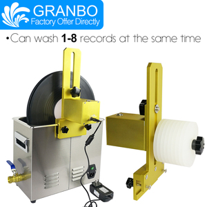 Image 3 - Granbo Vinyl Record Aluminum alloy Bracket Vinyl Ultrasonic Cleaner Digital With Degas 6.5L For 6RPM motor LP CD needle tracks