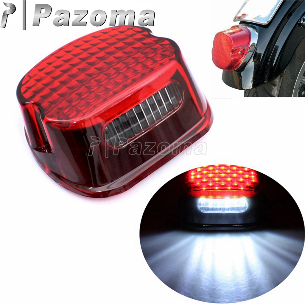 Motorcycle Red LED Running Tail Light Stop Brake Light License Plate Light For Harley Dyna Heritage Electra Glide Sportster XL