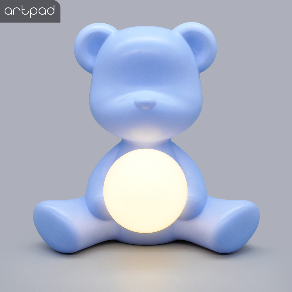 Kid Gift 5W Table Night Light Pink Blue with Plug in, Italy Design Lovely Bear ABS Bedside Study Table LED Light for Girl Boy - 2