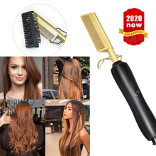 riwa electric hair comb smart thermostat lcd multifunction curling irons straight hair ptc heating do not hurt the hair 100 240v Hair Straightener Flat Irons Straightening Brush Hot Heating Comb Hair Straight Styler Corrugation Curling Iron Hair Curler Comb