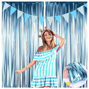 Wedding Backdrop Fringe Tinsel Curtain Foil Rain Curtains Kids Birthday Unicorn Party Decorations Baby Shower Photo Booth Drapes