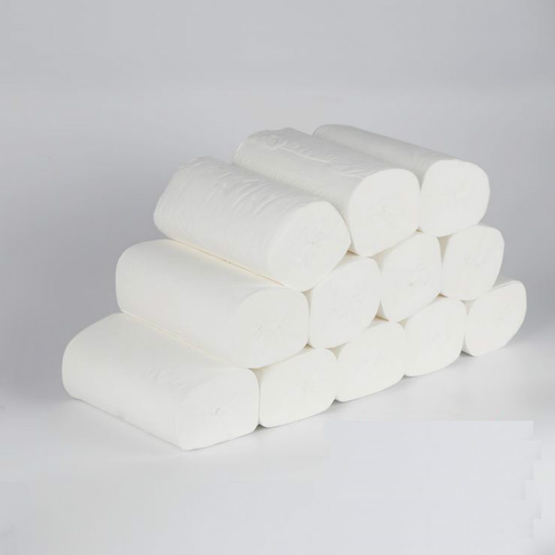 12 Rolls Of Affordable Four-layer Soft Household Coreless Toilet Paper Roll Paper Toilet Paper Skin-friendly And Non-allergic