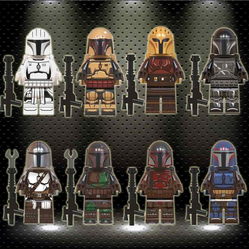 legoed WM6085 The Mandalorian Jango Fett Yoda Baby Darth Vader Rey Kylo Virtual building blocks Figures Toys For Children gifts
