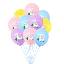 12 inch Kleurrijke Cartoon Dier Alpaca Lama Latex Ballonnen Gelukkige Verjaardag Opblaasbare Lucht Bal Baby Shower Wedding Party Supply(China)