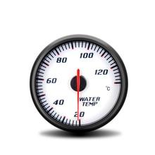 60 milímetros Calibre Car Racing Medidor Digital Display 12V Medidores de Temperatura Da Água Do Carro Temperatura Da Água Com Sensor 20 130C 1/8NPT Para Carro