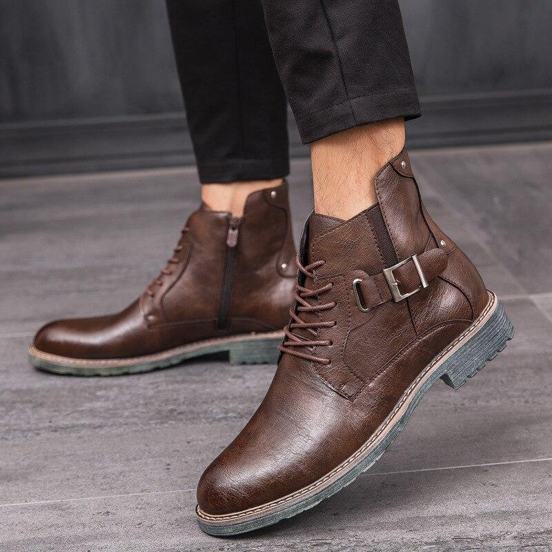 Botas Martin Para Hombre Zapatos De Cocodrilo De Gran Tama/ñO Botas Chelsea Botines Negros C/óModos Zapatos Casuales