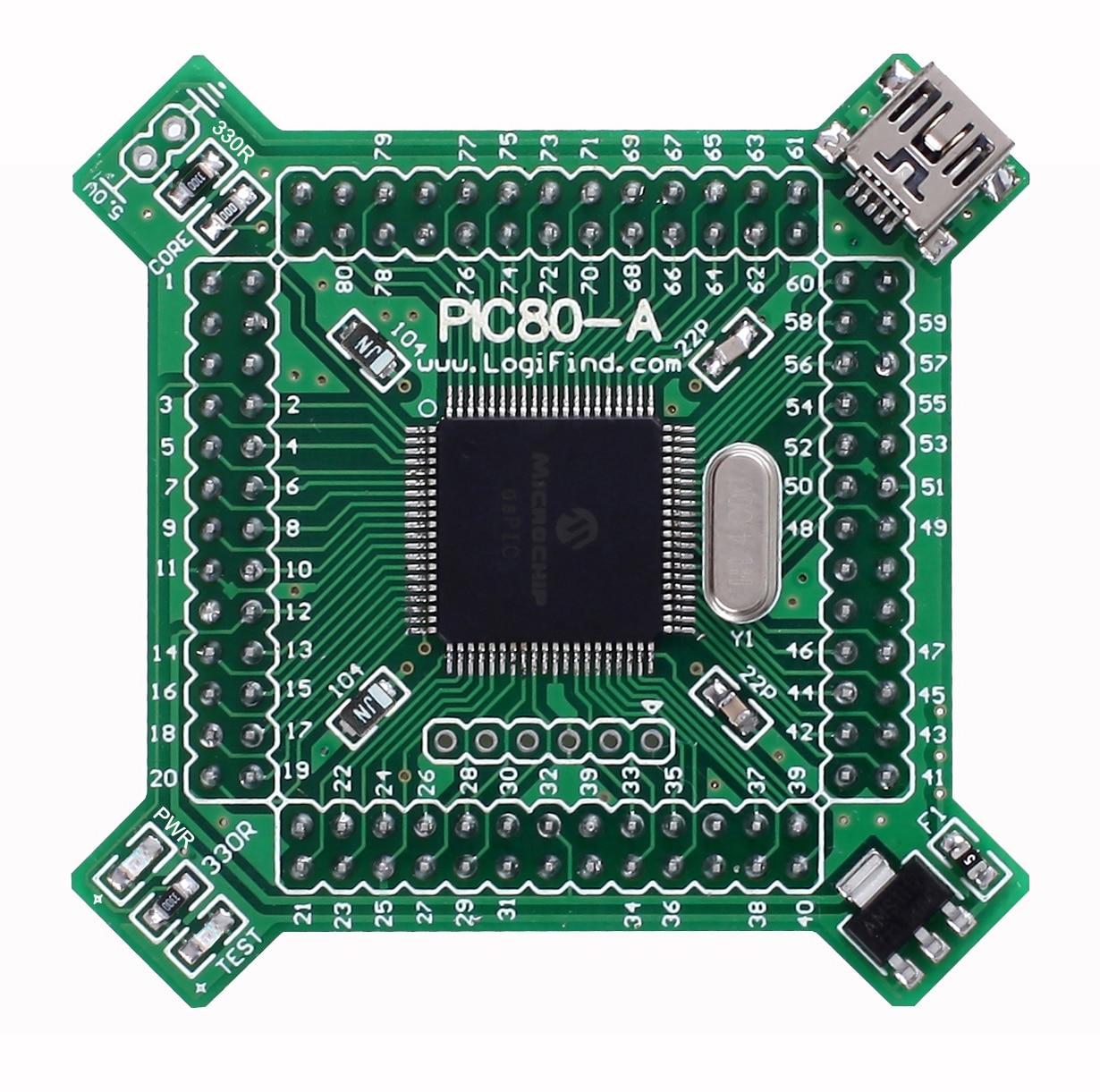 PIC24 MCU Learning Development Board Core Board PIC80-A with PIC24FJ128GB108(China)