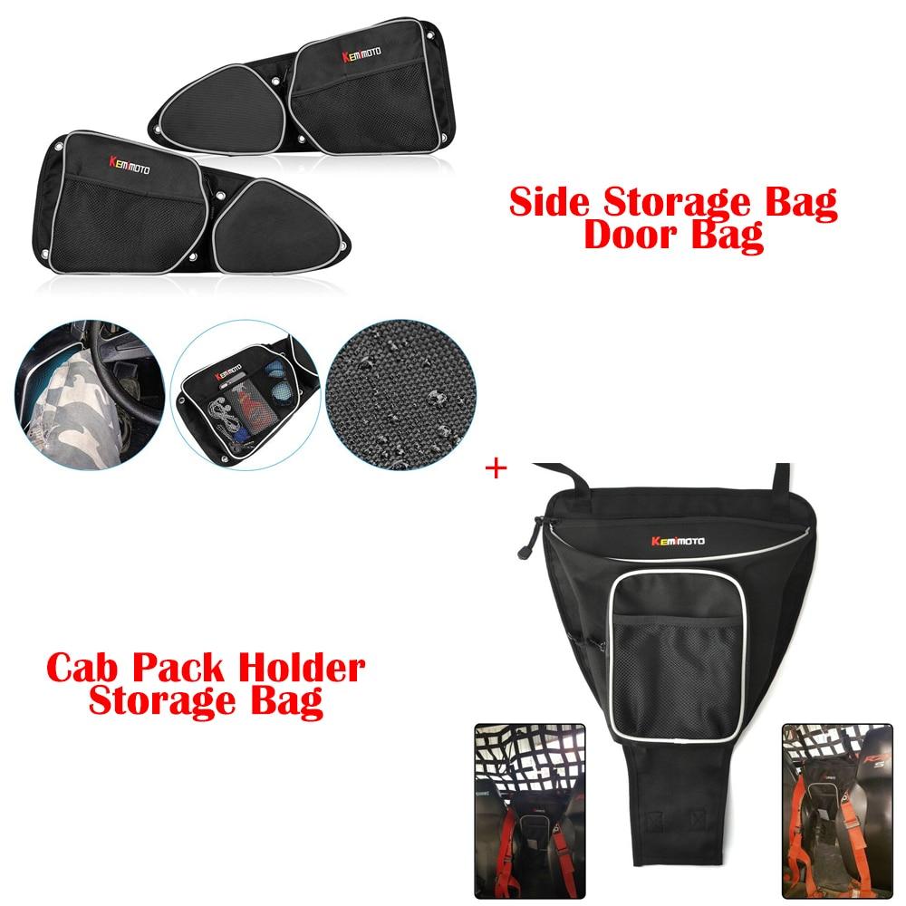 UTV Боковой Хранения дверной мешок защита колена+ кабина пакет ручка для мешка для хранения для Polaris RZR XP 1000 900 для Can Am Commander 1000