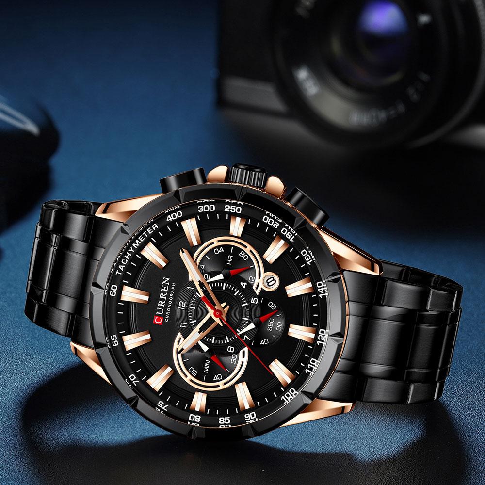 H92244709c7d04d2385c75392f47ef1c7d CURREN New Causal Sport Chronograph Men's Watch