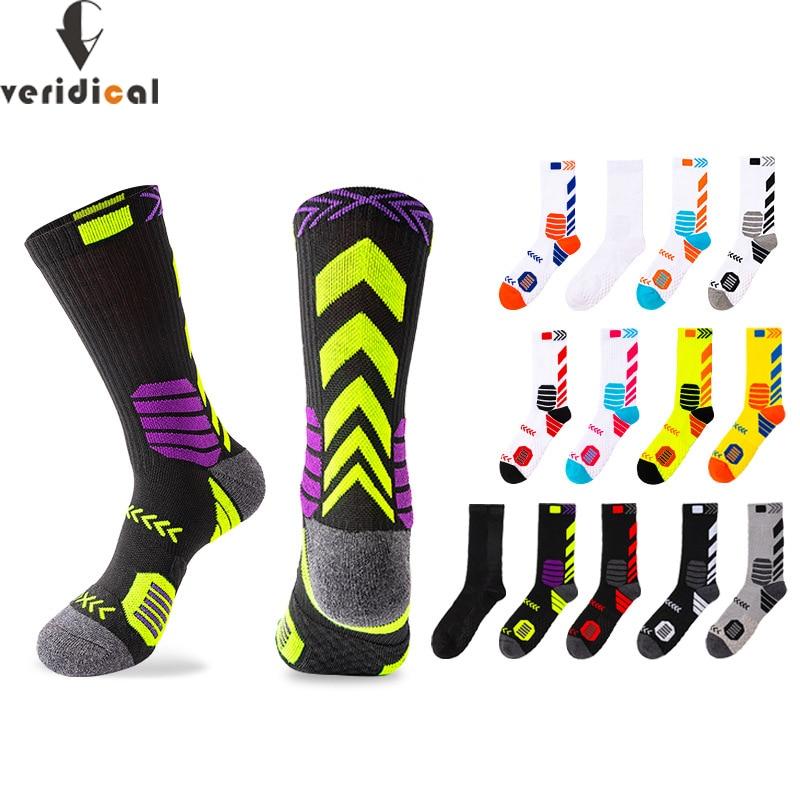 Элитные спортивные велосипедные баскетбольные носки компрессионные мужские черные трендовые Дышащие длинные походные демпфирующие Спорт...