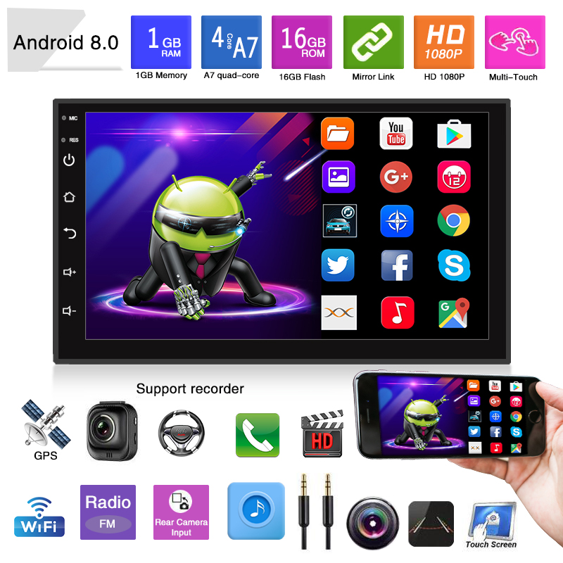 """MFWNITBL 2 Din Android 8.1 Car Multimedia Video Player 7"""" Universal 2DIN Stereo Car radio GPS Navigation For Volkswagen General"""