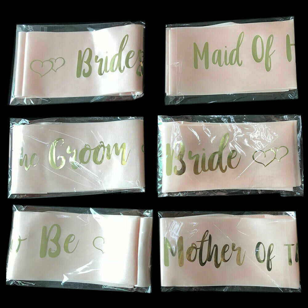 US สต็อก HEN PARTY SASHES ROSE GOLD เจ้าสาว BRIDESMAID SASH HEN DO GIRLS NIGHT OUT