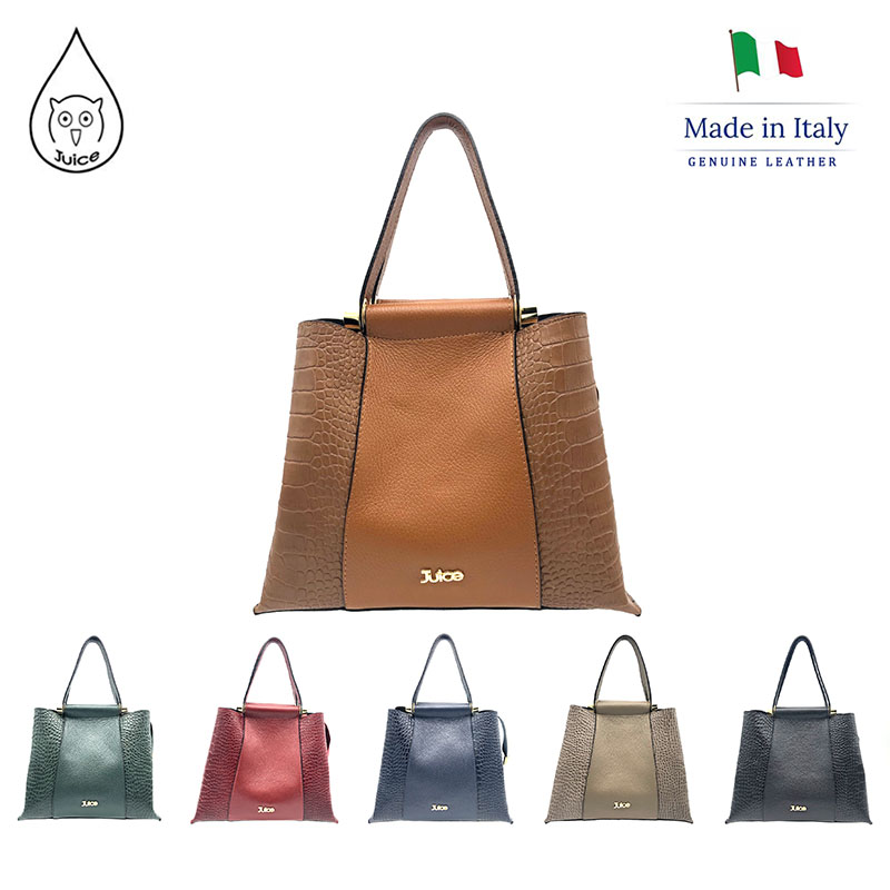 JUICE 2020 Spring,made In Italy, Genuine Leather Bag, Women Bag,Women Handbag,addition Long Shoulder Strap,112217