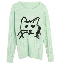 Shuchan Cat Women Sweaters and Pullovers 2019 Clothes for Fall Korean Sweater Cute Womens with A Pattern